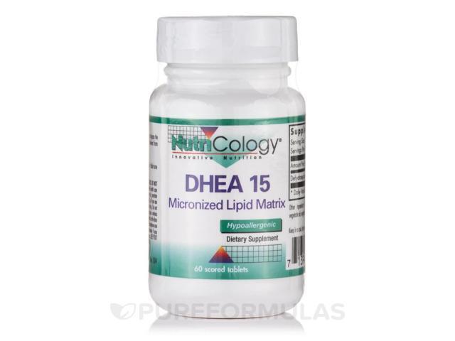 DHEA 15 mg Micronized Lipid Matrix - 60 scored tablets by NutriCology