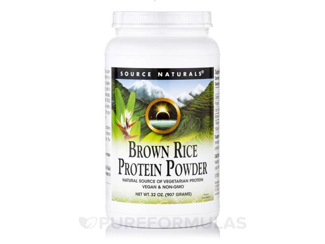 Brown Rice Protein Powder - 32 oz (907 Grams) by Source Naturals