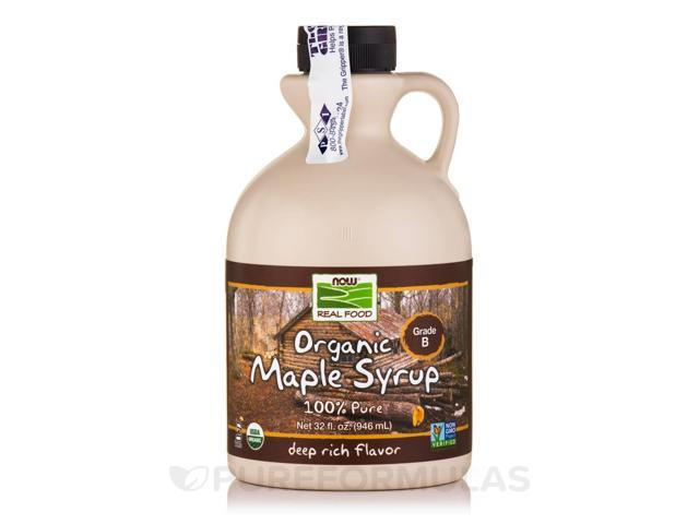 NOW Real Food - Maple Syrup Organic Grade B - 32 fl. oz (946 ml) by NOW
