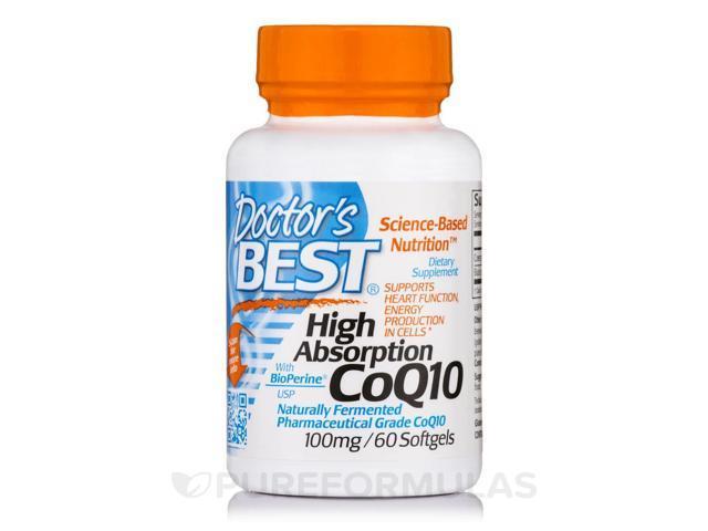 High Absorption CoQ10 (100mg) w/ Bioperine - Doctors Best - 60 - Softgel
