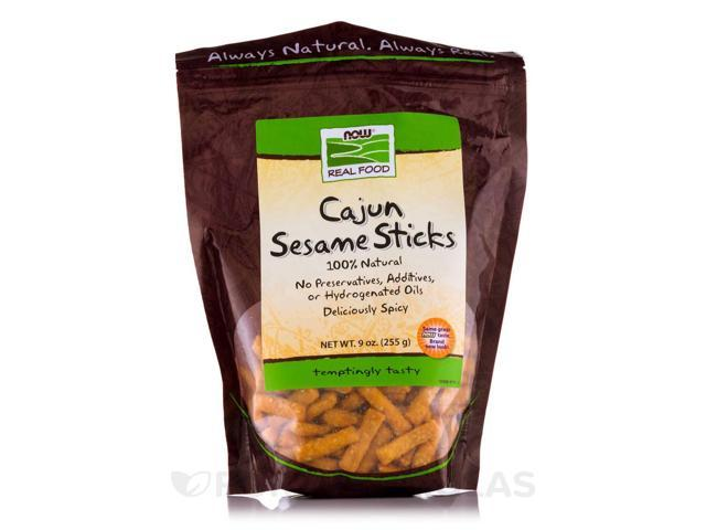 NOW Real Food - Cajun Sesame Sticks - 9 oz (255 Grams) by NOW