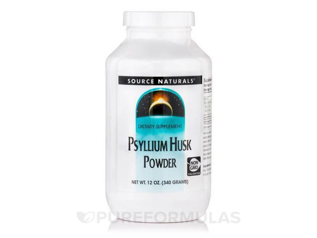 Psyllium Husk Powder - 12 oz (340 Grams) by Source Naturals