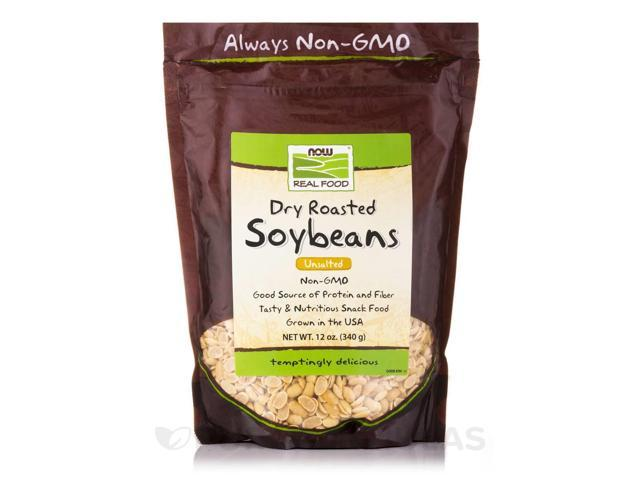 NOW? Real Food - Soybeans, Dry Roasted, Unsalted - 12 oz (340 Grams) by NOW