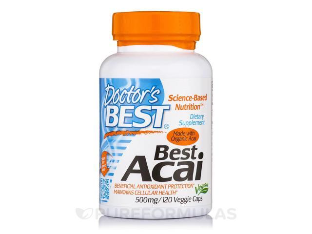Best Acai 500 mg - 120 Veggie Capsules by Doctor's Best
