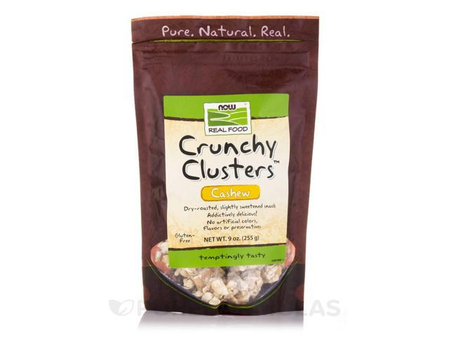 NOW Real Food - Crunchy Clusters Cashew - 9 oz (255 Grams) by NOW