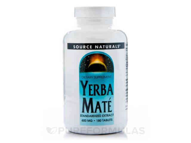 Yerba Mate 600 mg - 180 Tablets by Source Naturals