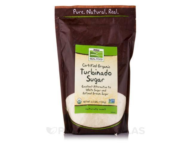 NOW Real Food - Turbinado Sugar (Certified Organic) - 2.5 lbs (1134 Grams) by N