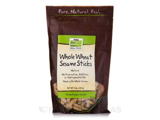 NOW? Real Food - Sesame Sticks (Whole Wheat) - 9 oz (255 Grams) by NOW