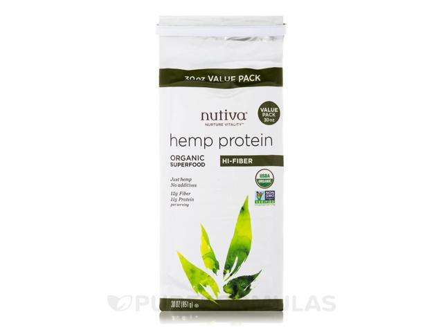 Organic Hemp Protein, Hi-Fiber - 30 oz (851 Grams) by Nutiva