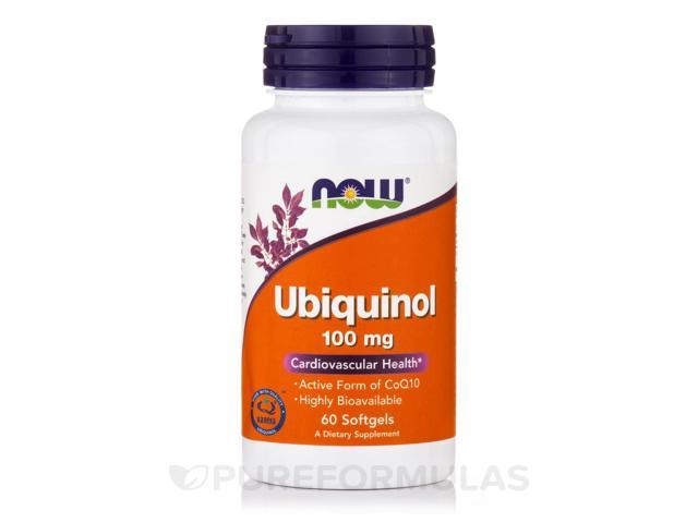 Ubiquinol 100 mg - 60 Softgels by NOW
