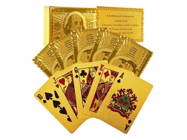 luxury 24k gold foil poker playing cards gold foil poker. Black Bedroom Furniture Sets. Home Design Ideas