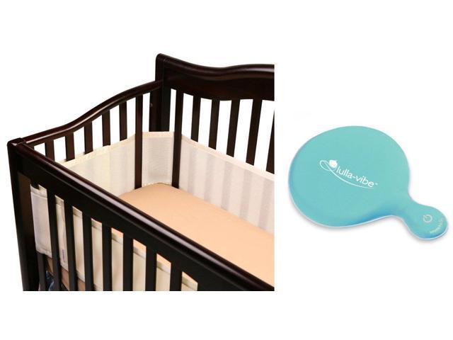 BreathableBaby Breathable Mesh Crib Liner with Lulla Vibe