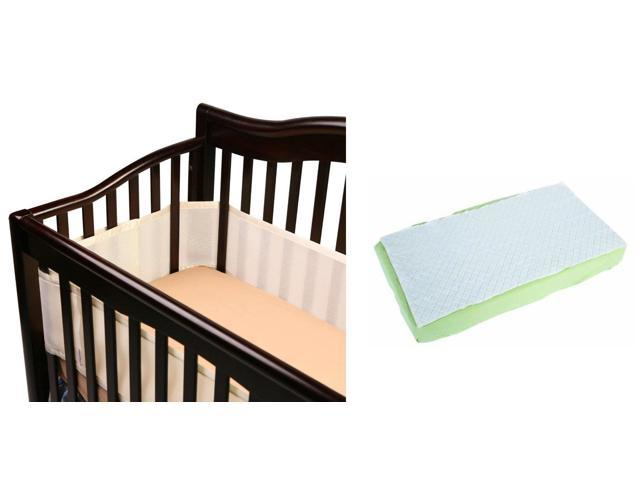 Breathable baby crib bumper and full length waterproof for Breathable crib mattress