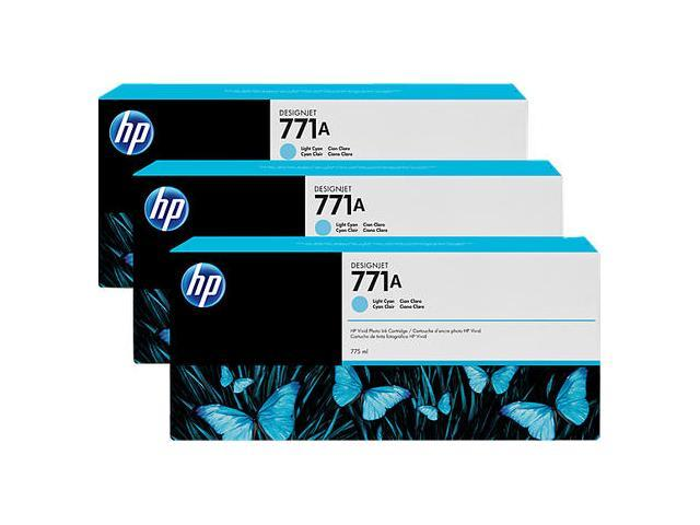 HP 771A Light Cyan Ink 3-Pack