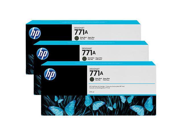 HP 771A Matte Black Ink 3 - Pack