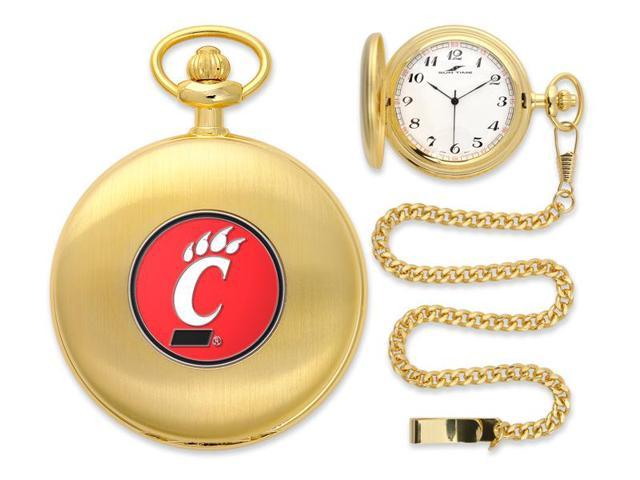 NCAA Men's Cincinnati Bearcats Pocket Watch Gold