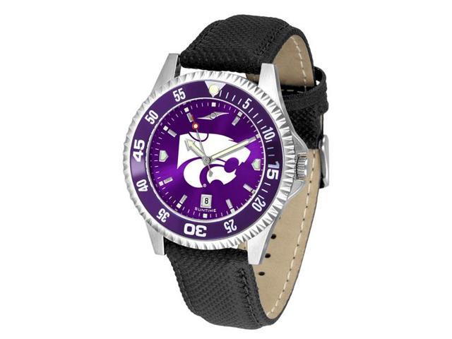 NCAA Men's Kansas State Wildcats Competitor AnoChrome Color Bezel Watch