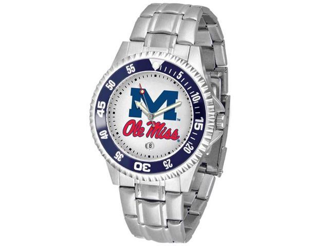 NCAA Men's Mississippi Rebels Ole Miss Competitor Steel Watch