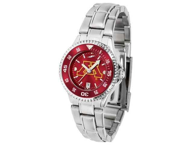 NCAA Minnesota Gophers Competitor Ladies' Steel AnoChrome Color Bezel Watch
