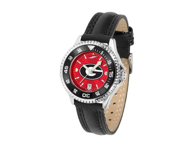 NCAA Georgia Bulldogs Competitor Ladies' AnoChrome Color Bezel Watch