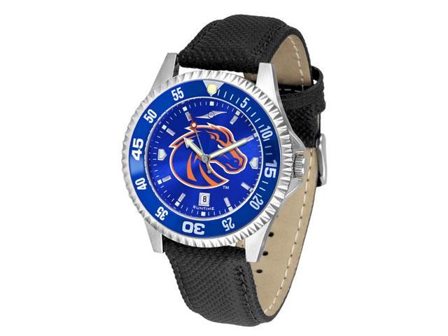 NCAA Men's Boise State Broncos Competitor AnoChrome Color Bezel Watch