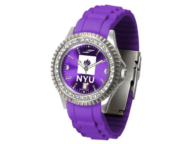 NCAA New York University Violets Ladies' Sparkle Watch