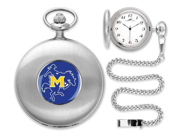 NCAA Men's McNeese State Cowboys Pocket Watch Silver