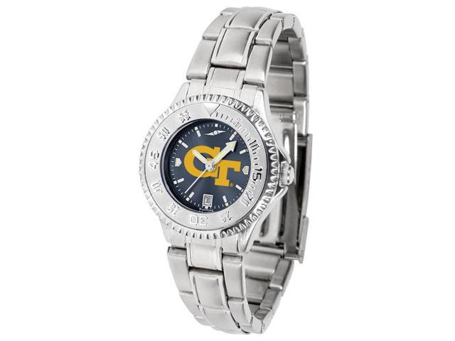 NCAA Georgia Tech Yellow Jackets Ladies' Competitor Steel AnoChrome Watch