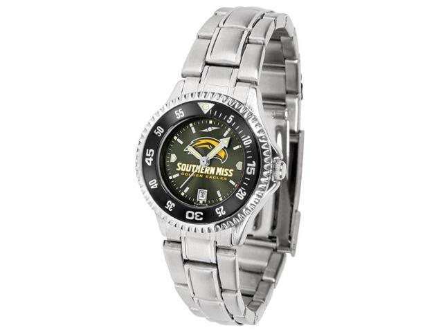 NCAA Southern Mississippi Eagles Competitor Ladies' Steel AnoChrome CB Watch