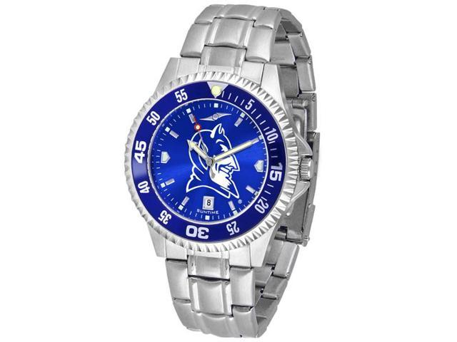 NCAA Men's Duke Blue Devils Competitor Steel AnoChrome Color Bezel Watch