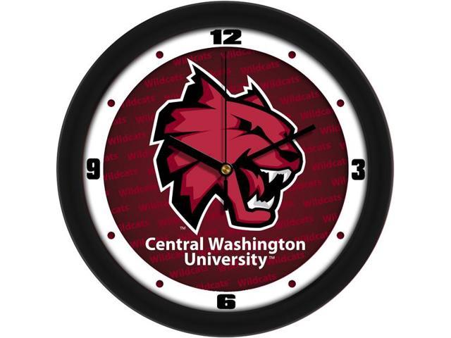 NCAA Central Washington Wildcats Dimension Wall Clock