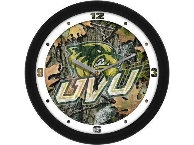 NCAA Utah Valley Wolverines Camo Wall Clock