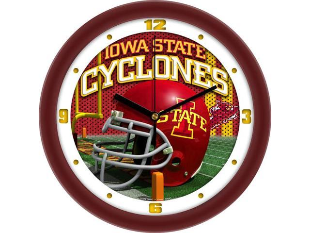 NCAA Iowa State Cyclones Football Helmet Wall Clock