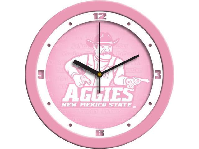 NCAA New Mexico State Aggies Pink Wall Clock