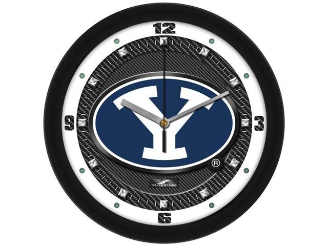 NCAA Brigham Young Univ. Cougars Carbon Fiber Textured Wall Clock