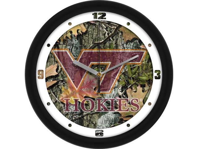 NCAA Virginia Tech Hokies Camo Wall Clock