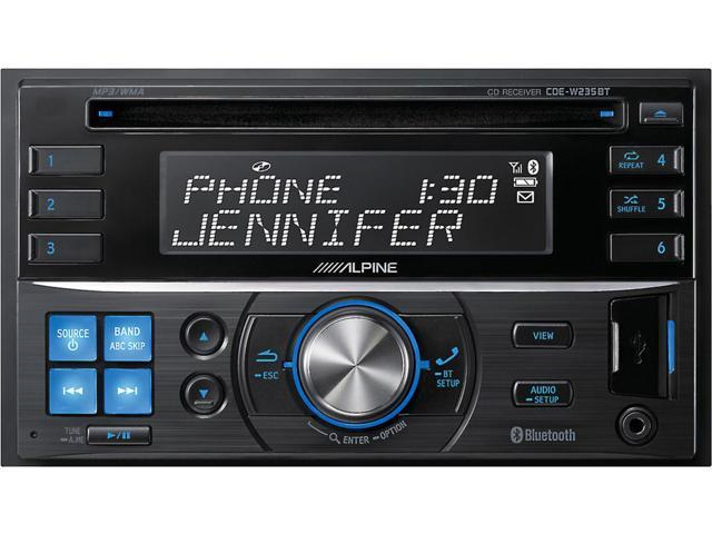Alpine CDE-W235BT Double-DIN CD Receiver with Advanced Bluetooth Technology (CDE-W235BT)