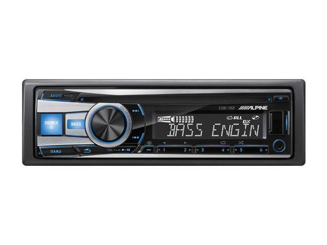 Alpine CDE-152 CD Receiver with USB iPhone/iPod Control (CDE-152)