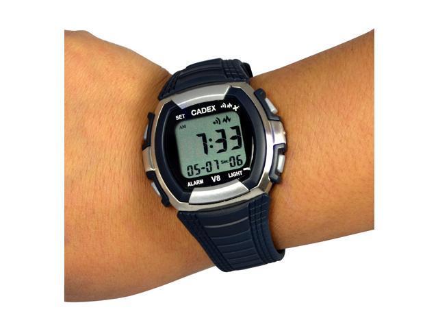 Cadex medication reminder watch 12 alarm wristwatch medical id medical alert bracelet for Cadex watches