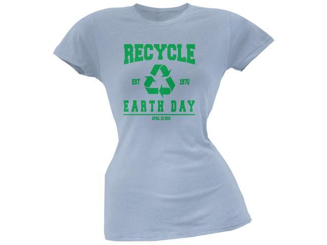 Earth Day - Recycle 1970 Light Blue Juniors Soft T-Shirt