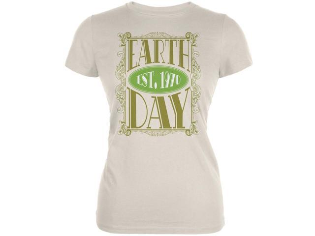 Earth Day - Vintage Earth Day Est. 1970 Ladies Organic Natural T-Shirt