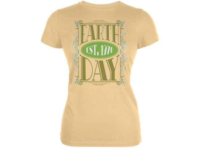 Earth Day - Vintage Earth Day Est. 1970 Ladies Organic Yellow T-Shirt