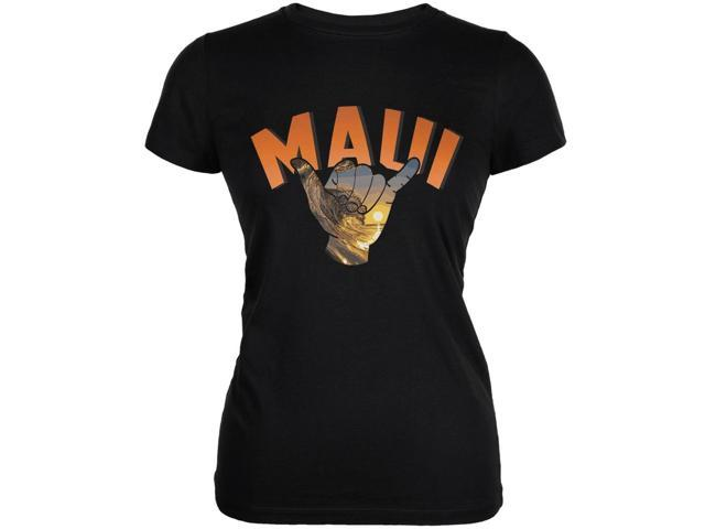 Maui Black Juniors Soft T-Shirt