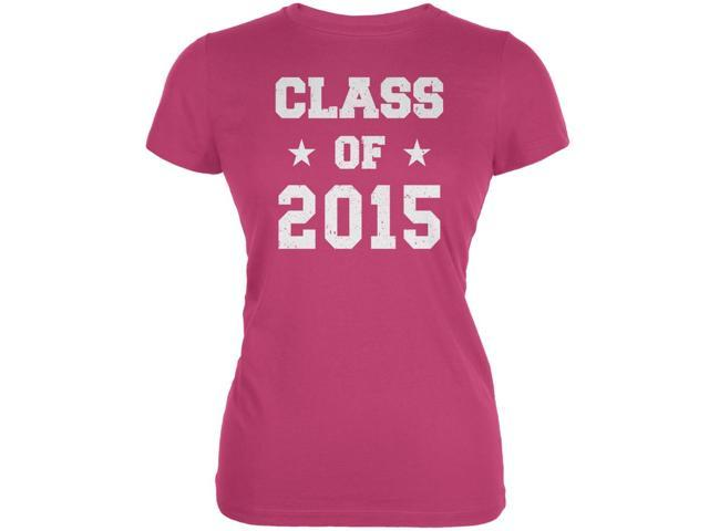 Graduation - Class of 2015 Stars Berry Pink Juniors Soft T-Shirt