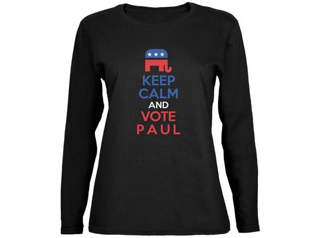 Election 2016 Keep Calm Vote Paul Black Ladies Long Sleeve T-Shirt