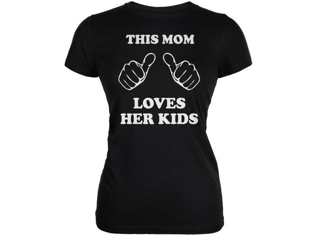Mother's Day - This Mom Loves Her Kids Black Juniors Soft T-Shirt