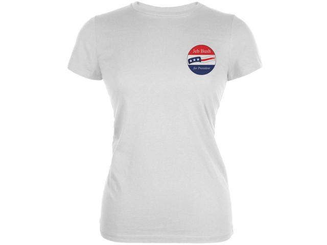 Election 2016 - Jeb Bush for President Jersey White Juniors Soft T-Shirt