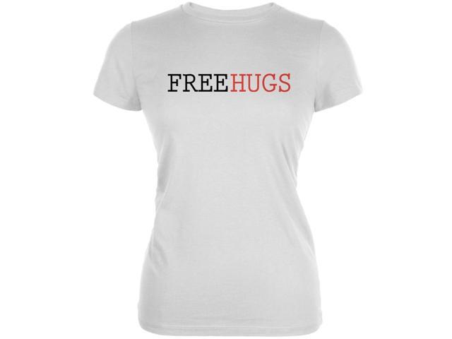 Free Hugs White Juniors Soft T-Shirt