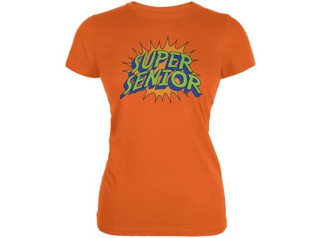 Graduation - Super Senior Orange Juniors Soft T-Shirt