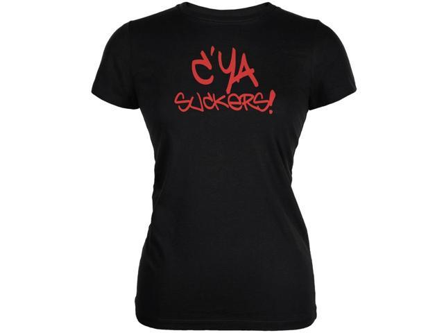 Graduation - C'Ya Suckers Funny Black Juniors Soft T-Shirt